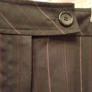 Slimming flat-front slacks
